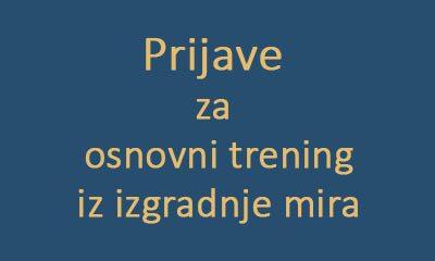 Poziv za Trening izgradnje mira za studente/ice iz Bosne i Hercegovine